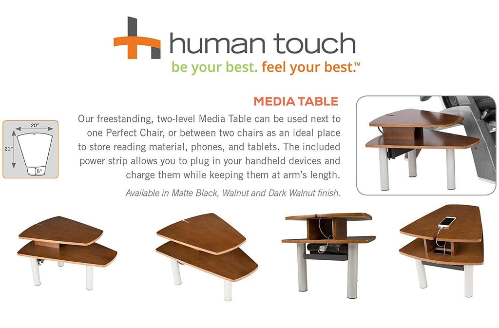 Human Touch Perfect Chair Free Standing Two Level Media Table - Senior.com Recliner Accessories
