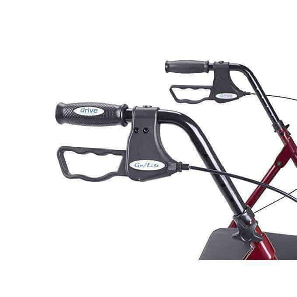 Drive Medical Go-Lite Heavy Duty Bariatric Steel Rollators - Senior.com Rollators