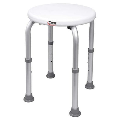 Carex Compact Shower Stool - Adjustable Height Bath Stool and Shower Seat - Senior.com Bath Stool