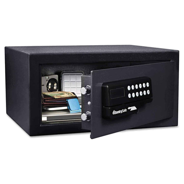 SentrySafe Large Hotel Card Swipe Safe and Compact Portable Security Safe Bundle - Senior.com Security Safes