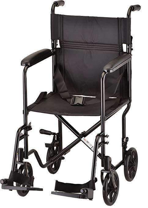 "Nova Medical Lightweight 19"" Steel Folding Transport Wheelchairs - Senior.com Transport Chairs"