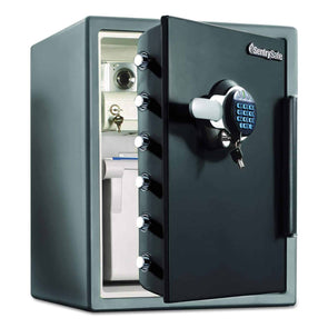 SentrySafe Large Electronic Lock Water and Fire Resistant Safe with Drawer & Locking Box - Senior.com Security Safes