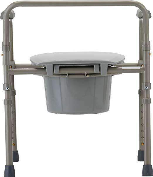 Nova Medical 3-In-1 Folding Portable Bedside Commode - Senior.com Commodes