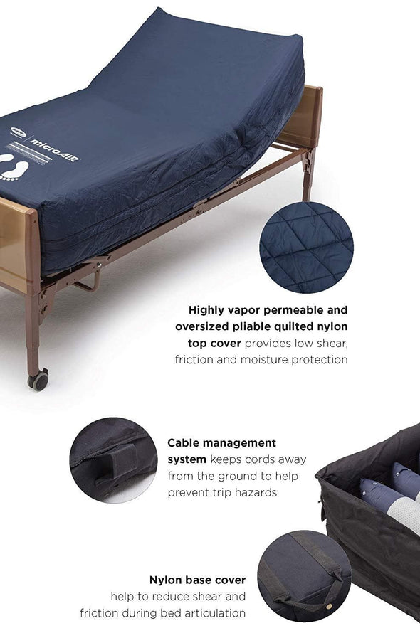 Invacare MicroAIR Lateral Rotation Bariatric Low Air Loss Mattress System - Senior.com Mattresses