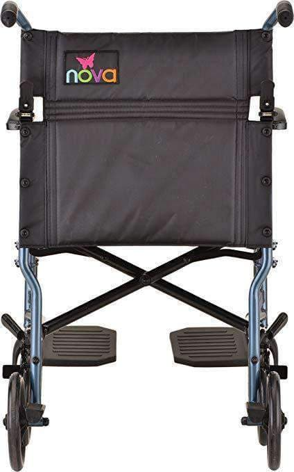 "Nova Medical 18"" Lightweight Aluminum Folding Transport Wheelchairs - Senior.com Transport Chairs"
