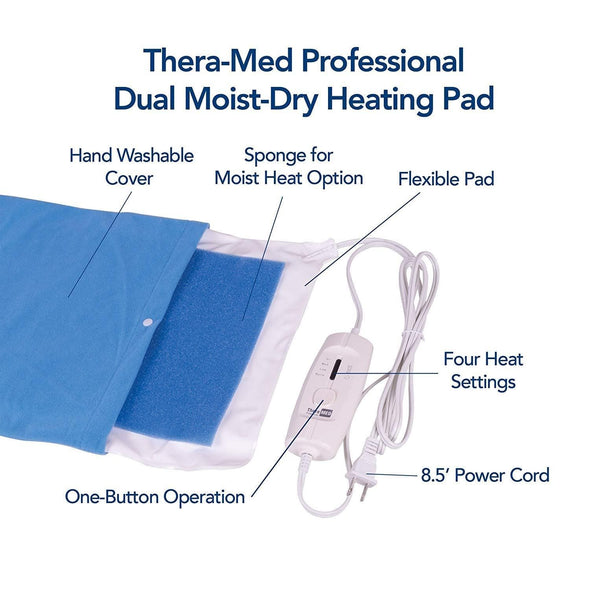 Thera-Med Professional Dual Moist-Dry Electric Heating Pads - Senior.com Heating Pads & Blankets
