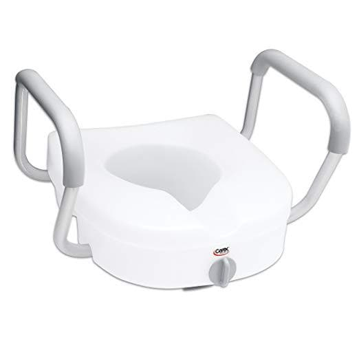 Swell Carex E Z Lock Raised Toilet Seat With Handles 5 Inch Toilet Seat Riser With Arms Inzonedesignstudio Interior Chair Design Inzonedesignstudiocom