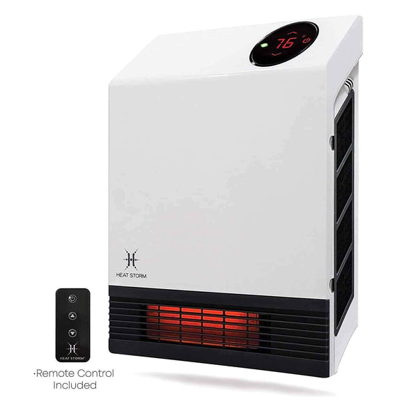 Heat Storm Deluxe Infrared Wall Heaters with Remote Control - Senior.com Heaters & Fireplaces