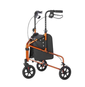 Lifestyle Mobility Aids Rally Lite - Aluminum 3 Wheel Folding Walkers with Tote - Senior.com Rollators