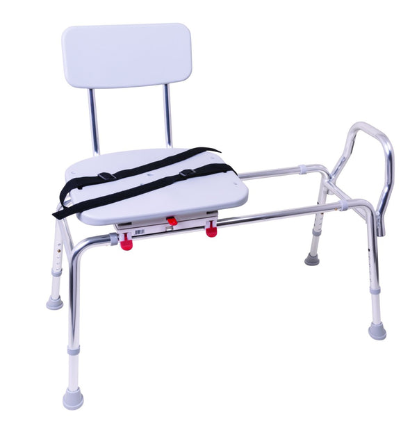 Roscoe Medical Sliding Transfer Bench with Swivel Seat and Back - Senior.com Transfer Equipment