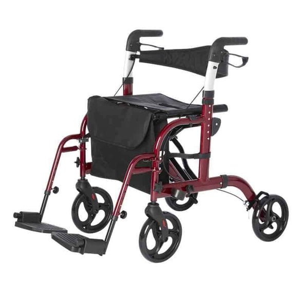 Lifestyle Mobility Aids Lightweight Folding Translator - 2 in 1 Rollator and Transport Chairs - Senior.com Rollator