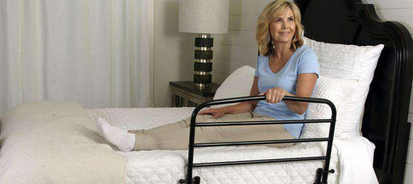 "Stander Home Safety Adult Fall Prevention Bed Rail - 30"" - Senior.com Bed Rails"