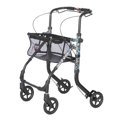 "Lifestyle Mobility Aids Shop N Go Narrow 4 Wheel Rollator with 6"" Wheels - Senior.com Rollators"