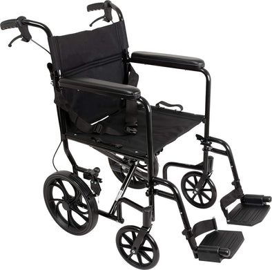 ProBasics Foldable Aluminum Transport Wheelchair With 19 Inch Seat - Senior.com Transport Chairs