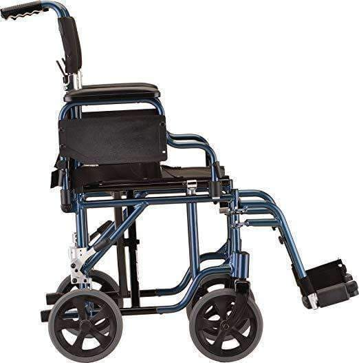 "Nova Medical 19"" Transport Chair with Detachable Arms & Swing Away Foot Rests - Senior.com Transport Chairs"