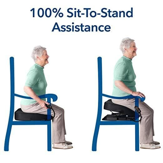 Carex Health Brands Premium Power Lifting Seat - 100% Electric Lift Up To 300 lbs - Senior.com Stand Assist Aids