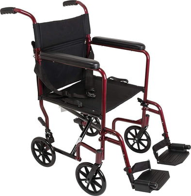 "ProBasics Aluminum Transport Wheelchair - 19"" Seat - Senior.com Transport Chairs"