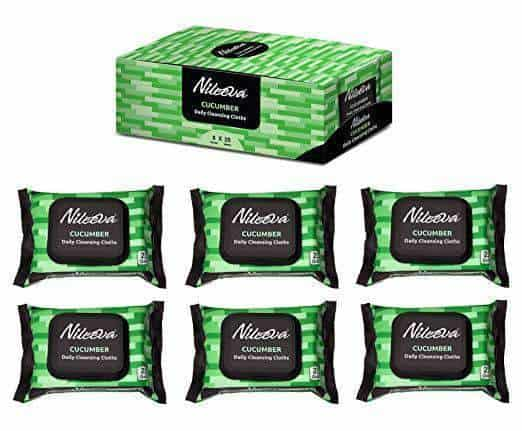 Nileeva Visage Collection Daily Cleansing Cloths & Wipes - 25 Wipes Per Pack - Senior.com Bathing Wipes