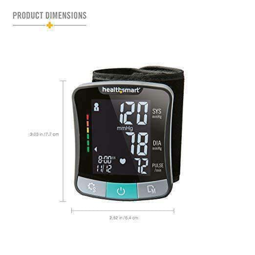 HealthSmart Premium Series Wrist Digital Blood Pressure Monitor - Senior.com Blood Pressure Monitors