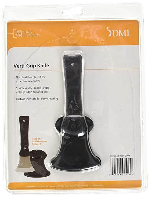 DMI Verti-Grip Curved Cutting Kitchen & Dinner Knife for Individuals with Limited Hand Strength - Senior.com Knives