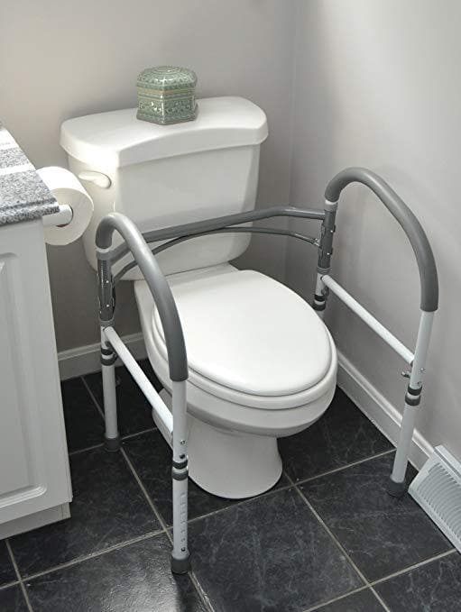 Magnificent Carex Toilet Safety Rails Standing Aid Ibusinesslaw Wood Chair Design Ideas Ibusinesslaworg