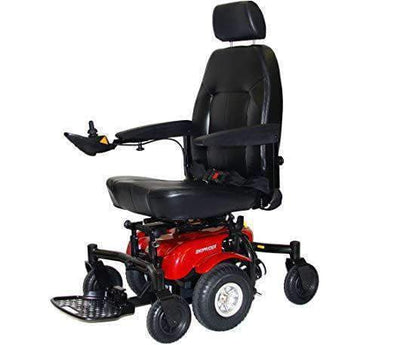 "Shoprider 6Runner Center-Wheel Drive Power Chair with 10"" Mid Wheels - Senior.com Power Chairs"
