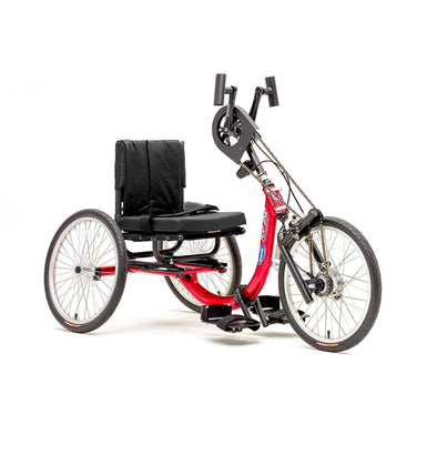 Invacare Top End Little Excelerator 2 Stock Hand Cycle - Candy Apple Red - Senior.com Hand Cycles