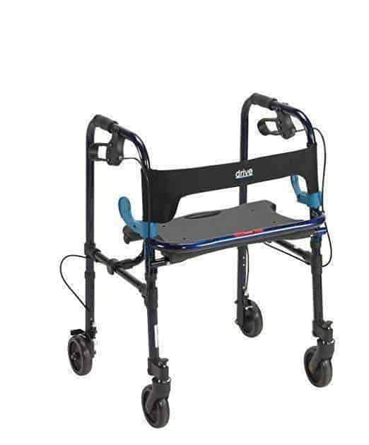 Drive Medical Deluxe Clever Lite Rollator Walkers - Flame Blue - Senior.com Rollators