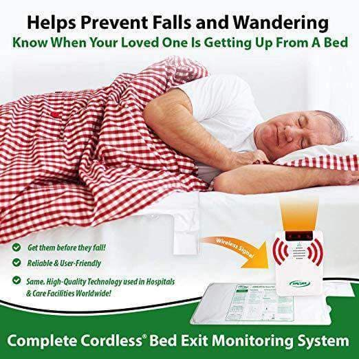 Smart Caregiver Cordless Weight Sensing Bed Pads -Monitor or Alarm Not Included - Senior.com Fall Prevention