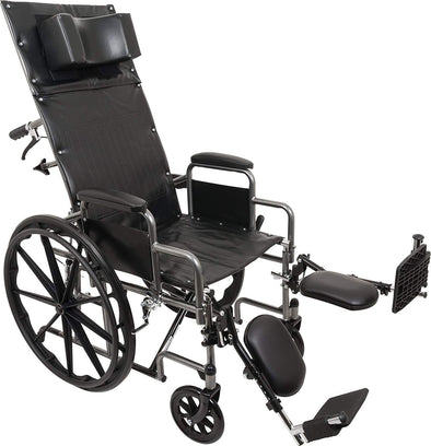 ProBasics Standard Reclining Wheelchair - Padded Detachable Desk Length Arms - Senior.com Wheelchairs