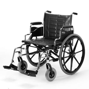 "Invacare Tracer IV Wheelchair with Heavy Duty Wheels, 24"" x 18"" Seat, Desk-Length Arms - Senior.com Wheelchairs"