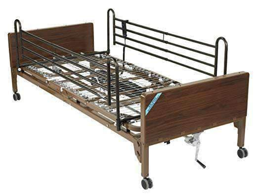 Drive Medical Semi Electric Hospital Bed with Full Rails and Therapeutic Support Mattress - Senior.com Bed Packages