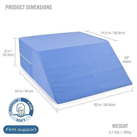 DMI Ortho Bed Supportive Foam Wedge Pillow for Elevating Legs - Senior.com Bed Wedges