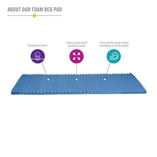 DMI Soft Foam Bed Topper Support Pads - Great For Additional Comfort - Senior.com Bed Pads