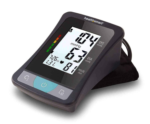HealthSmart Blood Pressure Monitor for Upper Arm with Clinically Accurate Talking LCD Screen - Senior.com Blood Pressure Monitors