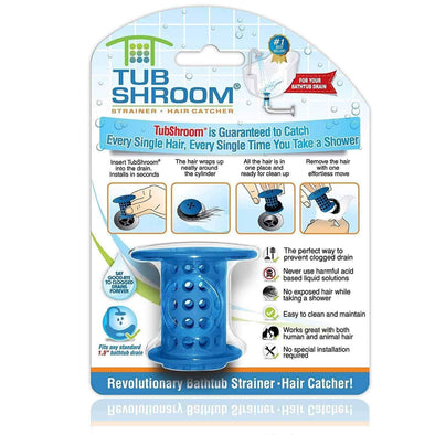 TubShroom - The Revolutionary Tub Drain Protector All-In-One Hair Catcher/Strainer/Snare - Senior.com Bathroom Accessories