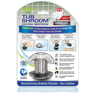 TubShroom Ultra Award Winning Bath Tub Drain Protector Hair Catcher/Strainer/Snare - Senior.com Bathroom Accessories