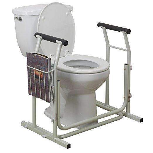 Drive Medical Stand Alone Toilet Safety Rails with Storage - Senior.com Grab Bars & Safety Rails