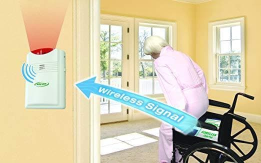 Smart Caregiver Wireless Fall Monitor with Chair Pressure Sensing Pad and Pager Kit - Senior.com Fall Prevention
