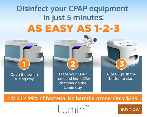 3B Lumin CPAP Cleaner - Ozone Free UV CPAP Mask and Accessory Sanitizer and Disinfectant - Senior.com CPAP Cleaners