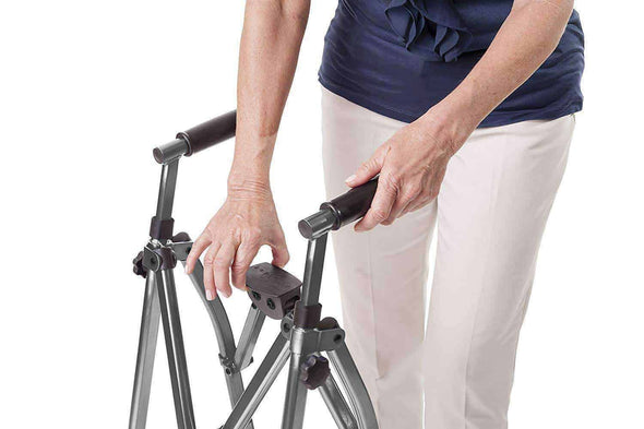 Stander EZ Fold-N-Go Walker-Lightweight Folding & Height Adjustable Travel Walkers - Senior.com walkers