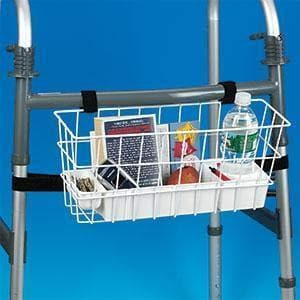Maddak Deluxe Walker Basket with Heavy Duty Tray - Senior.com Walker Parts & Accessories