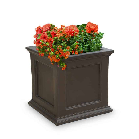 Mayne Fairfield 28in Square Planter - Senior.com Planters