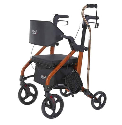 Lifestyle Mobility Aids Deluxe Translators - 2 in 1 Rollator Transport Chairs - Senior.com Rollators