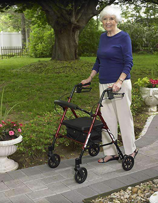 "Drive Medical Adjustable Height Rollators with 6"" Casters - Senior.com Rollators"