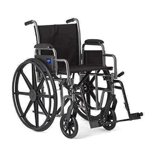 Medline K1 Extra Wide Folding Basic Wheelchairs - Senior.com Wheelchairs