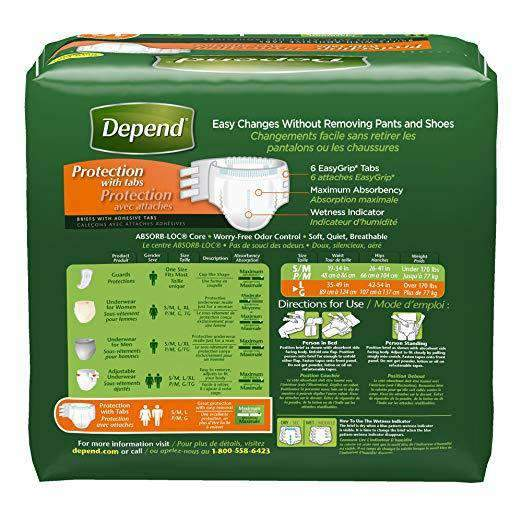 Depend Protection with Tabs Incontinence Underwear - Maximum Absorbency - Senior.com Underwear - Unisex