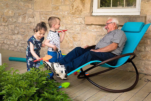 Vivere Orbital Lounger Outdoor Rocking Chairs - Senior.com Outdoor Chairs