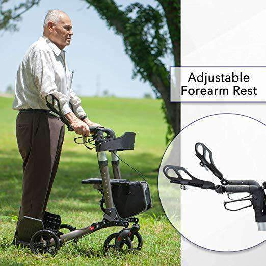 Ergoactives Roller-GO Double Foldable Adult Mobility Rollator Walker with Forearm Support - Senior.com Rollators