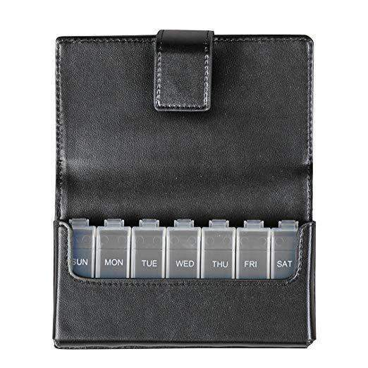 HealthSmart® Fashion Travel 7-Day Pill Planner Organizer - Senior.com Pill Organizer
